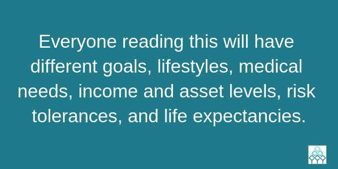 Everyone's formula for a happy retirement is different.