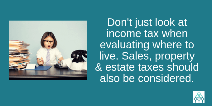 Don't look solely on income taxes when deciding where to live.