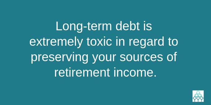 Get rid of long-term debt.