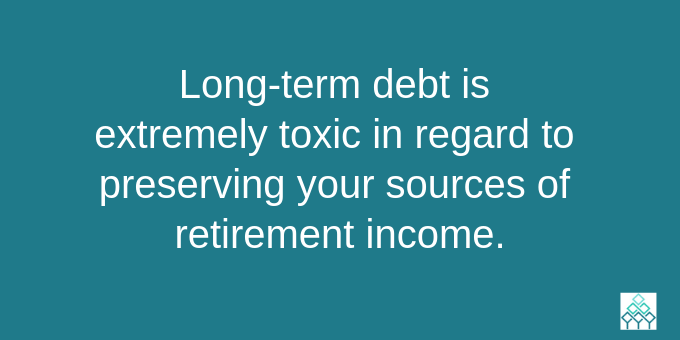 Get rid of long-term debt.