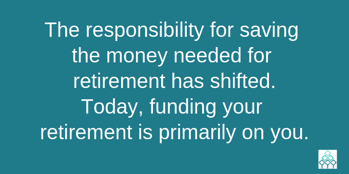 Retirement saving is your responsibility.