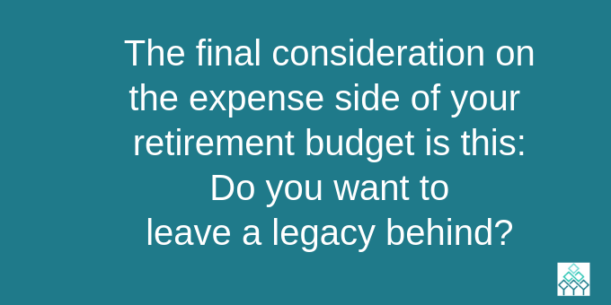 Consider leaving a legacy.
