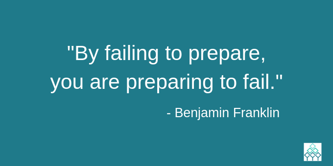 By faifling to prepare, you are preparing to fail.